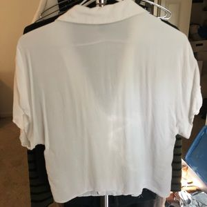 Forever 21 Tops - F21 white button down cropped small